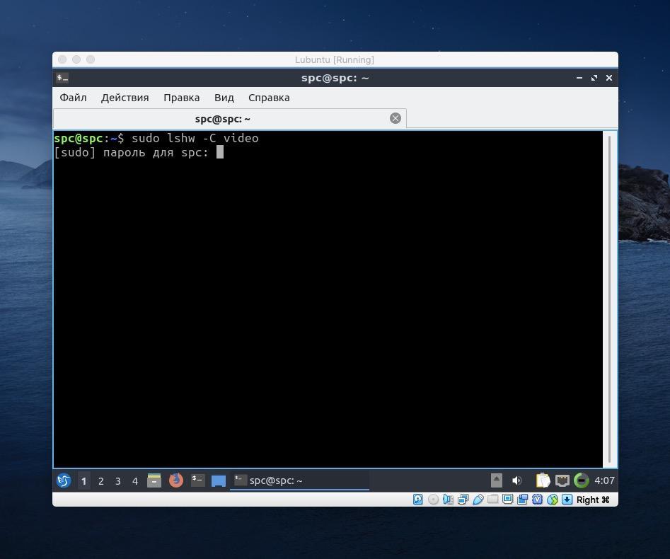 Запрос на ввод пароля в терминале Linux