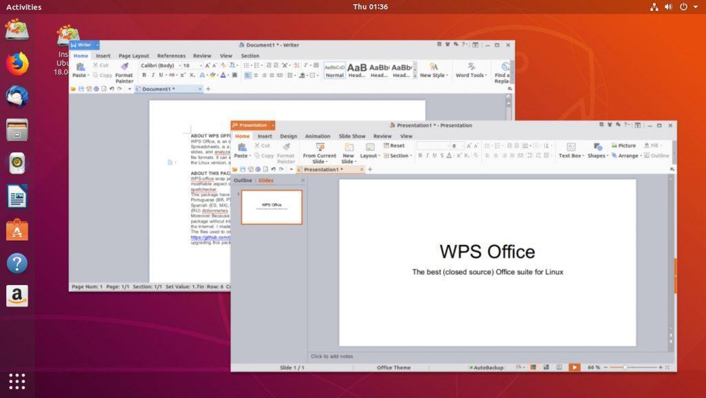 Внешний вид пакета офисных программ WPS
