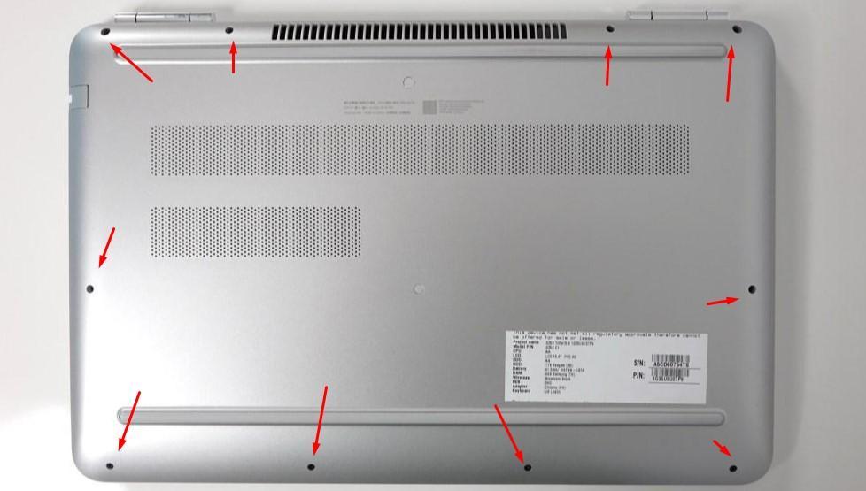 Днище ноутбука HP Pavillion