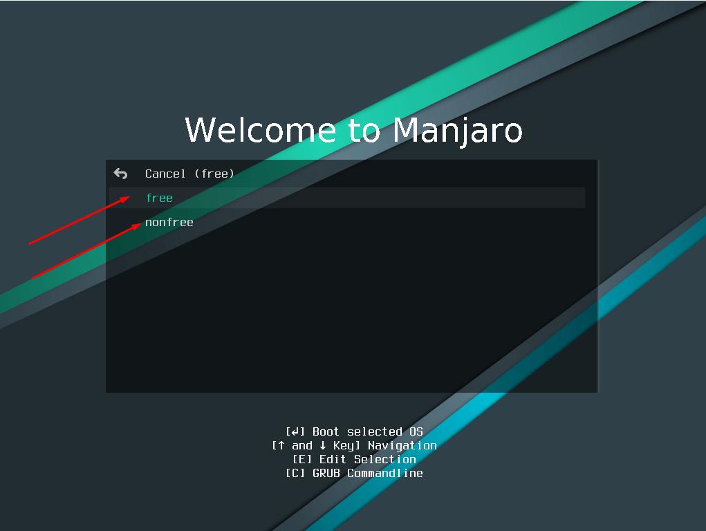 Выбор драйверов в процессе установки дистрибутива Manjaro Linux