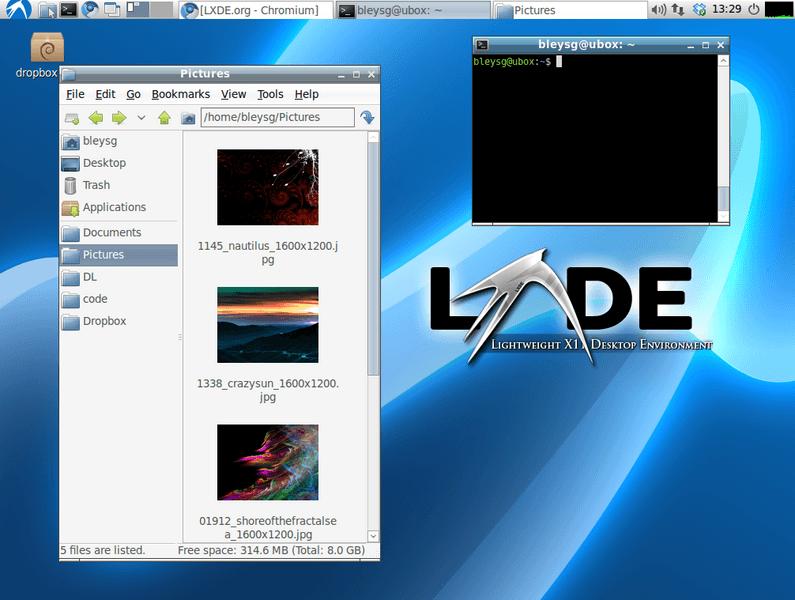 Графическая оболочка LXDE