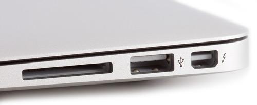 Набор портов в MacBook Air, включая Thunderbolt 2