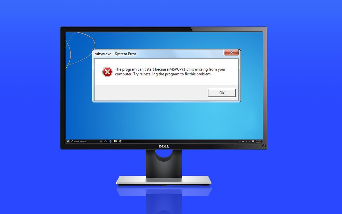 Исправляем ошибку файла msvcp71.dll