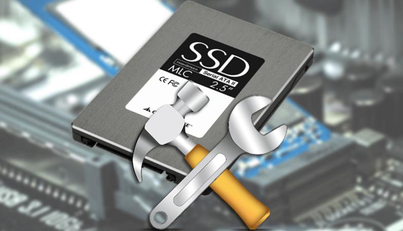 Обслуживание SSD диска, форматирование