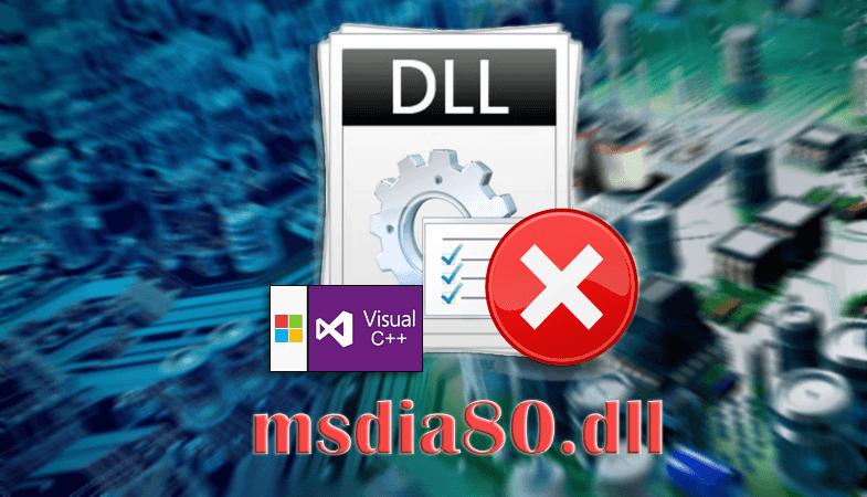 Ошибка файла msdia80.dll