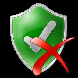 Иконка защита, отключить