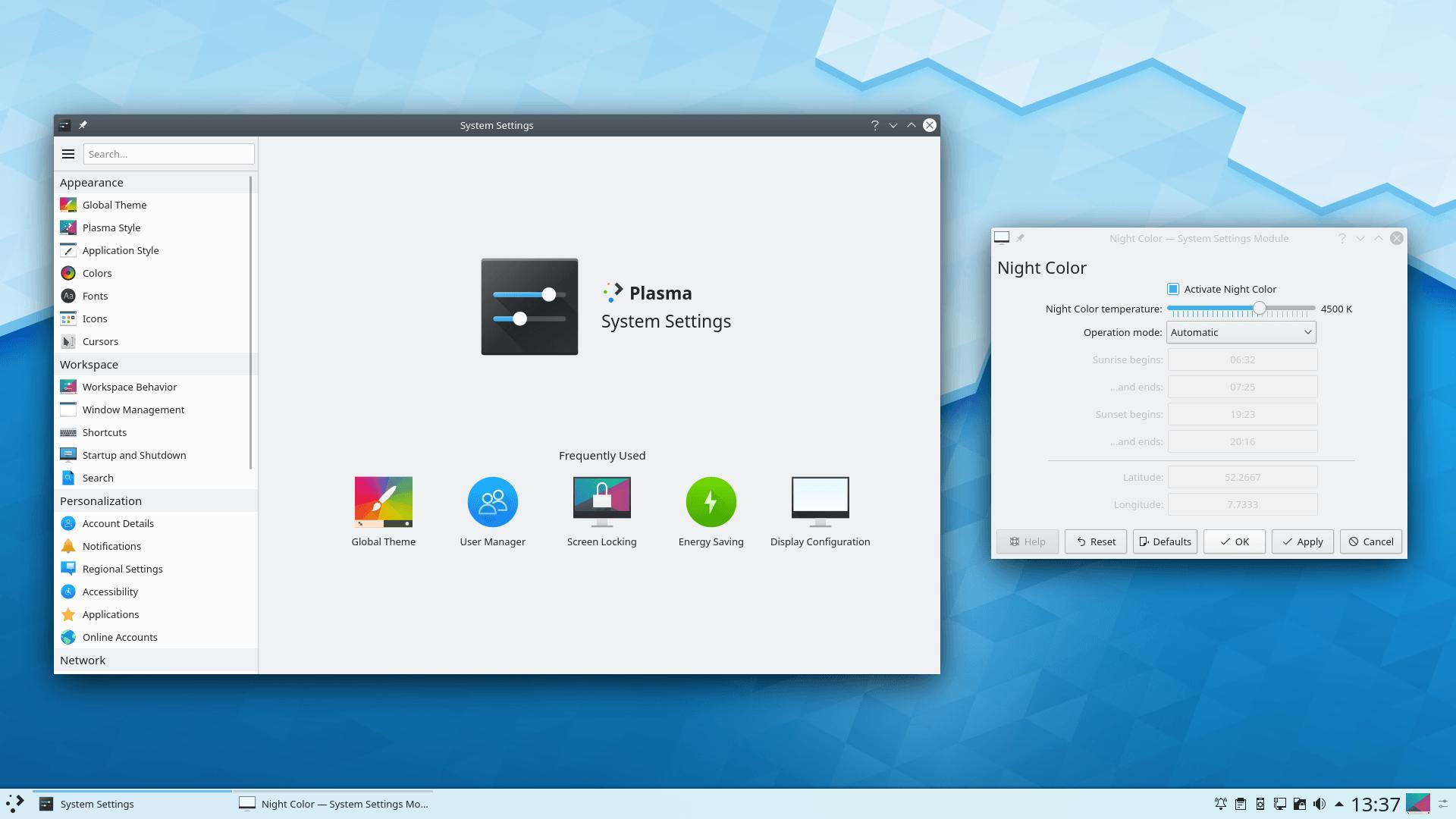 Рабочий стол KDE