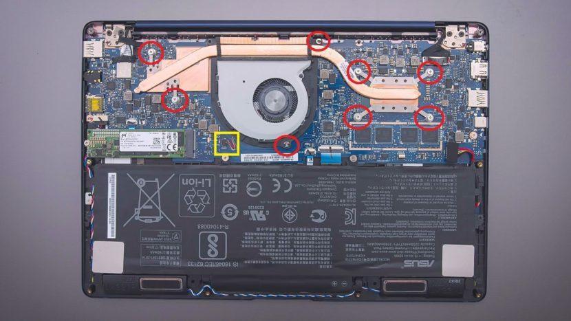 Комплектующие ноутбука ASUS