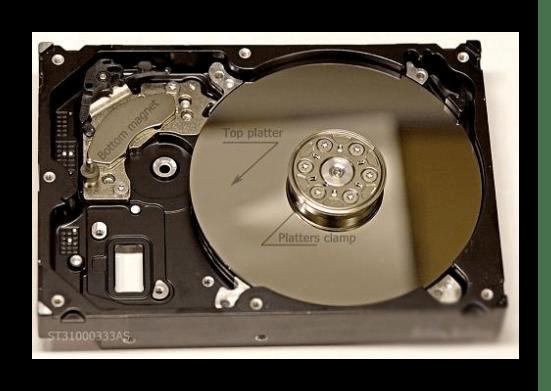 Прижимное кольцо в жёстком диске