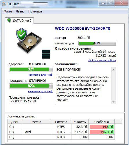 Проверка диска от HDDlifePro