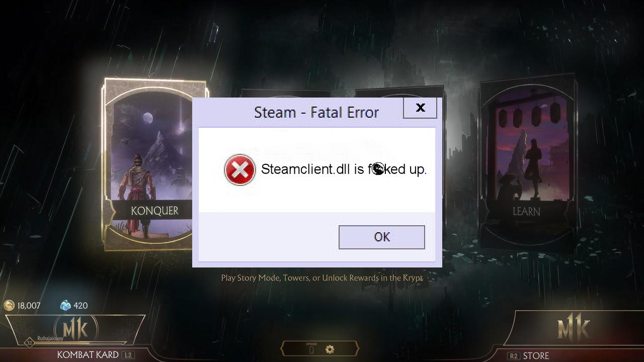 Как исправить ошибку файла ssteamclient.dll?
