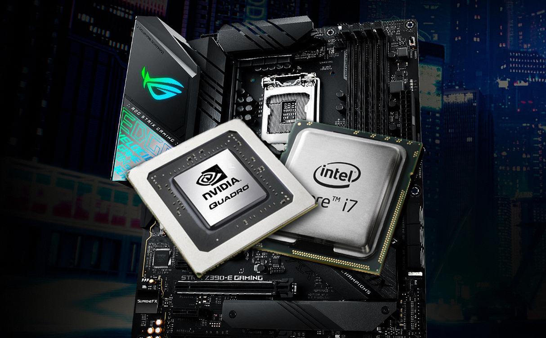 CPU и GPU на фоне системного блока