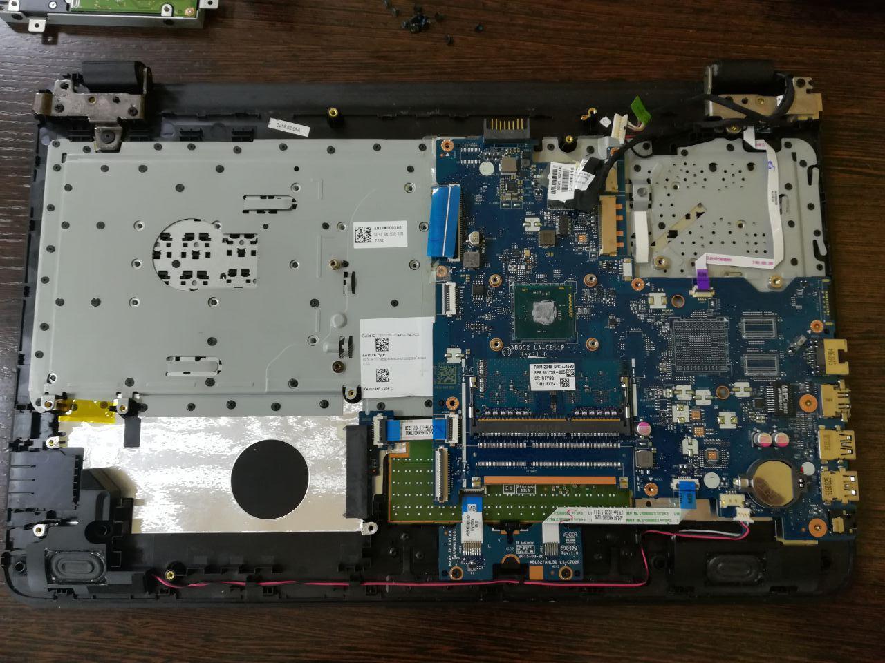 Разборка ноутбука HP