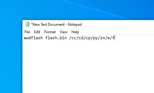 Bat-файл для прошивки BIOS