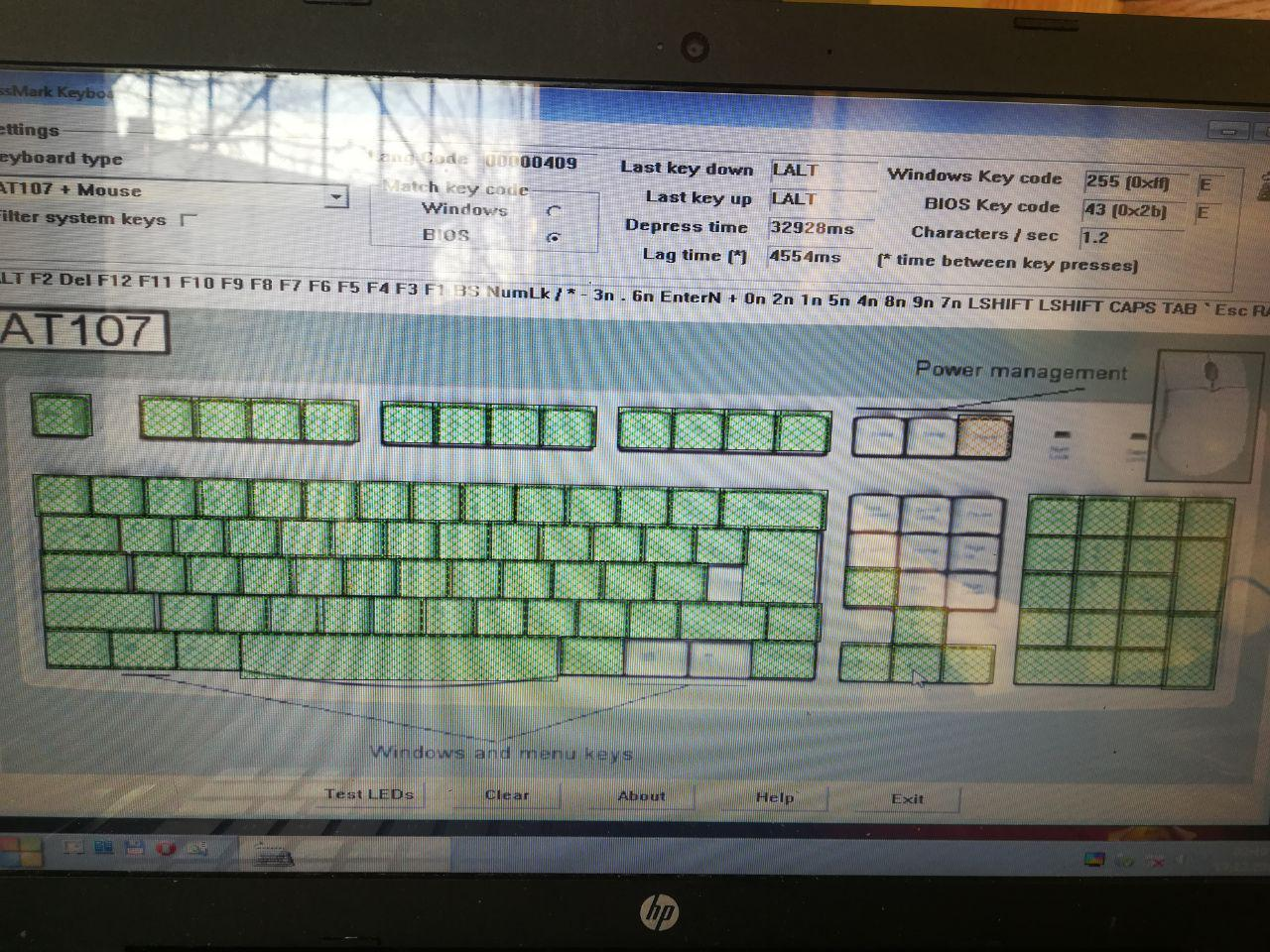 Проверка клавиатуры
