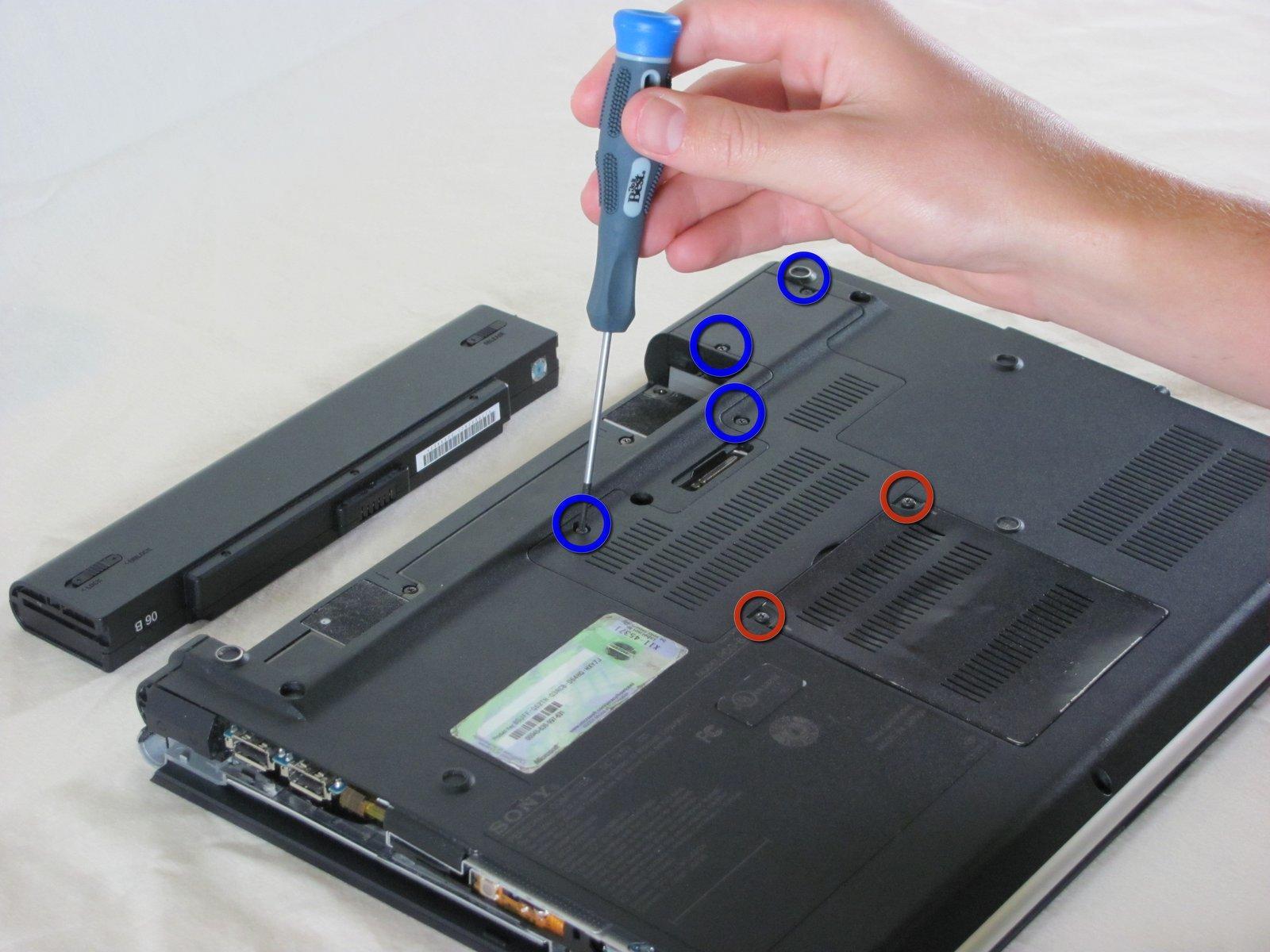 Днище ноутбука Sony Vaio