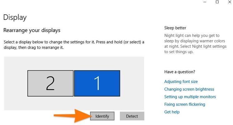 Кнопка для поиска дополнительных экранов
