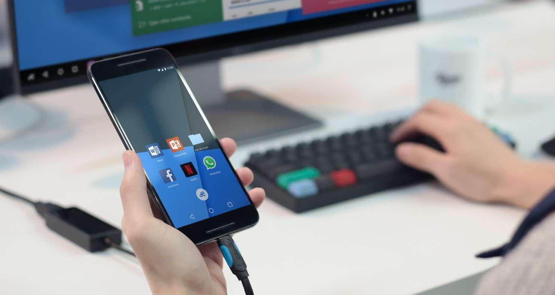 Подключение телефона к ноутбуку