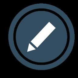 Иконка регистрация, карандаш