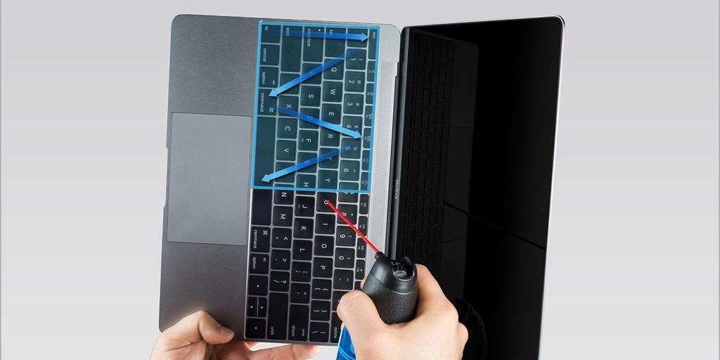 Схема очистки клавиш
