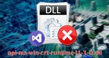 Исправляем ошибку файла api-ms-win-crt-runtime-l1-1-0.dll