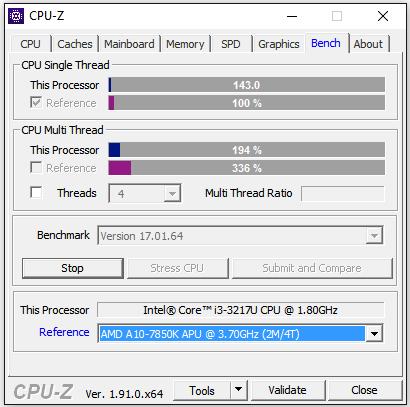Тест в CPU-Z