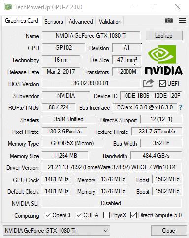 Диагностика видеокарты GPU-Z