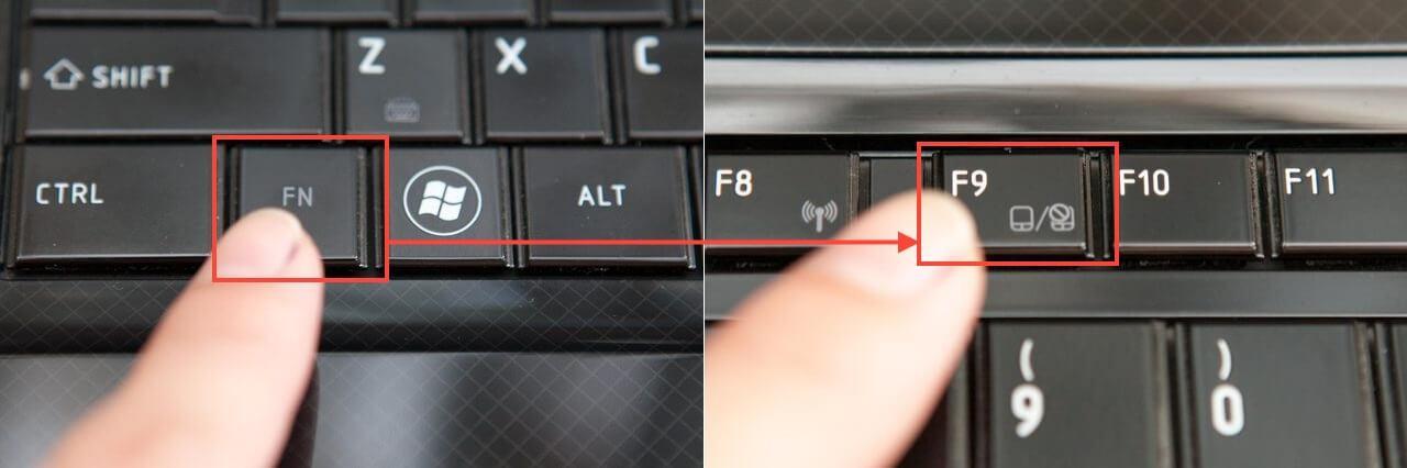 Клавиша включения тачпада