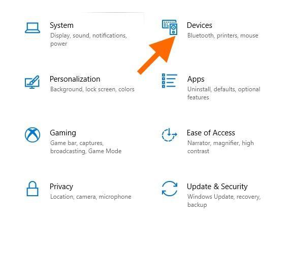 Основные параметры Windows 10