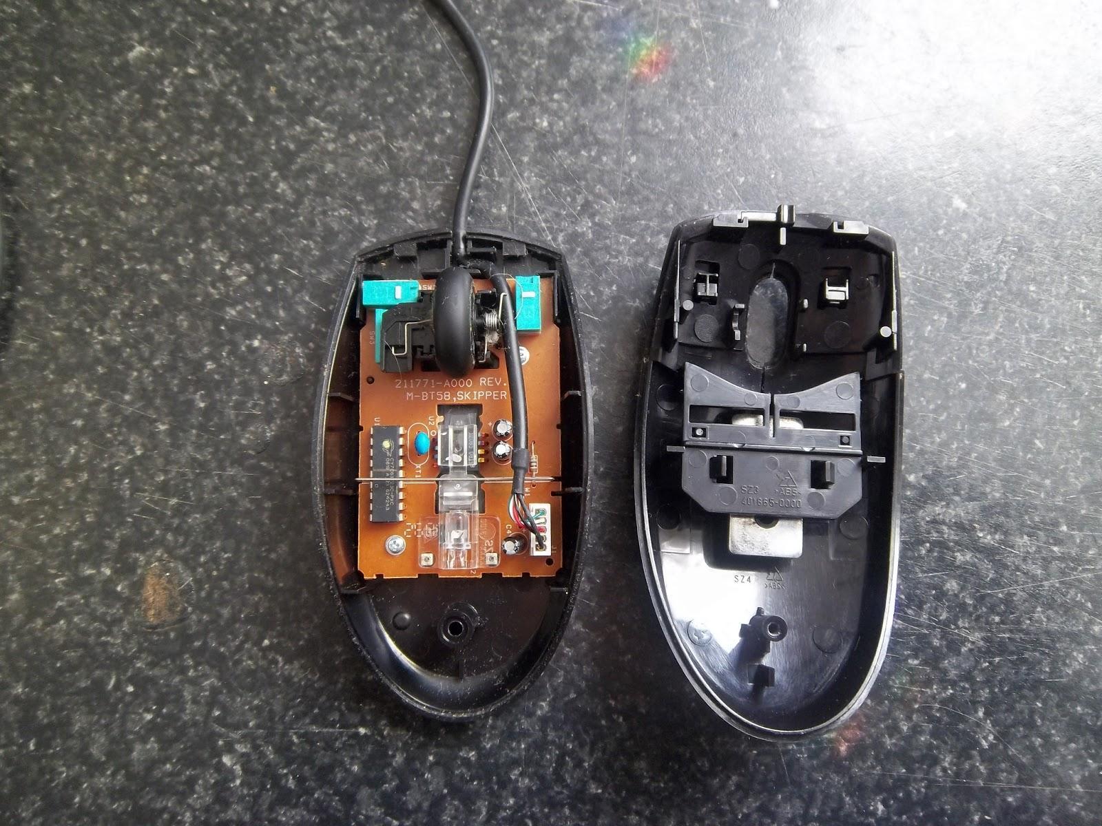 Мышь в разобранном состоянии