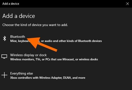Кнопка для добавления новых Bluetooth-устройств в систему
