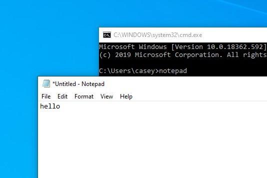 Как открыть блокнот в Windows 10