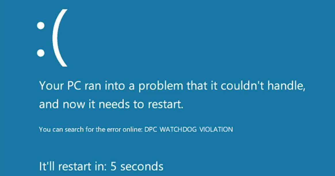 Как исправить ошибку «DPC_WATCHDOG_VIOLATION» в Windows 10