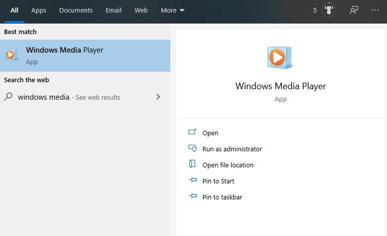Результаты поиска по запросу Windows Media