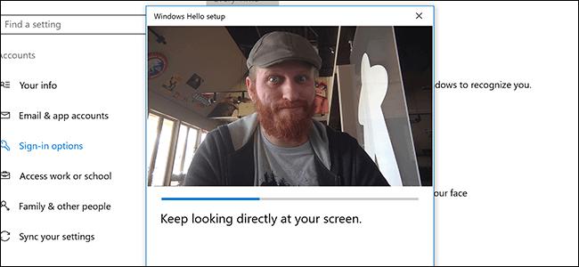 Процесс настройки Windows Hello