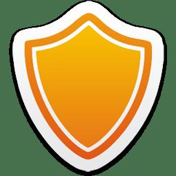 Иконка Защита отключена