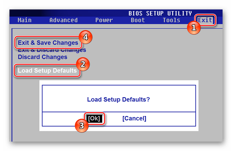 Load Setup Defaults BIOS