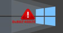 Как исправить 0x8024002E в Windows 10