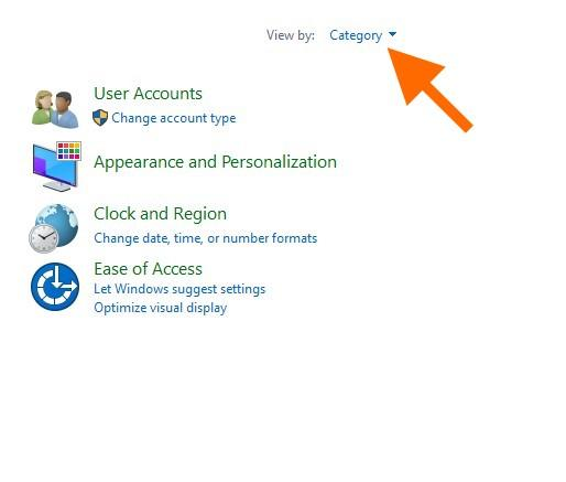 Программа «Панель управления» в Windows 10