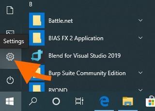 Меню «Пуск» в Windows 10