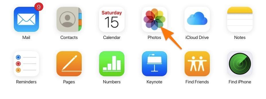 Интерфейс iCloud.com на компьютере