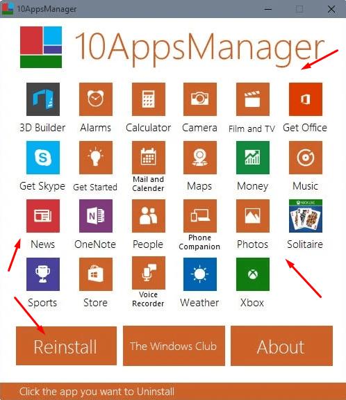 Как удалить или восстановить системные приложения в 10AppsManager
