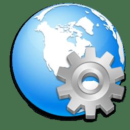 Иконка Настройки глобус служба