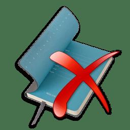 Иконка журнал удалить