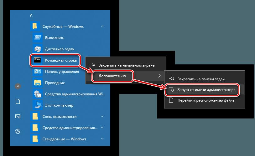 Командная строка Запуск от администратора