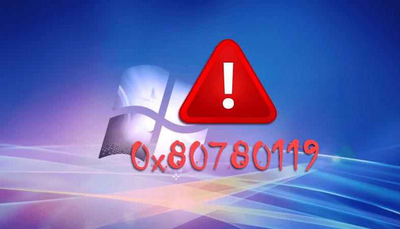 Ошибка 0x80780119 в Windows