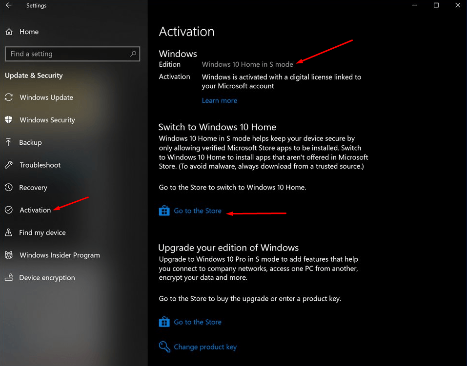 Как отключить S-режим через настройки в Windows 10