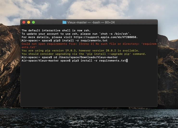 Команда для установки Python3 и всех зависимых компонентов