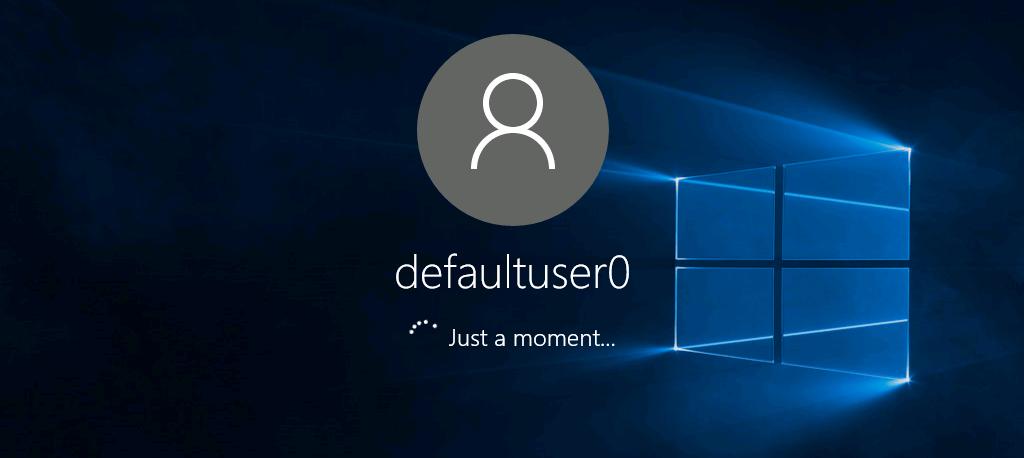 Удалить пользователя DefaultUser0 в Windows 10