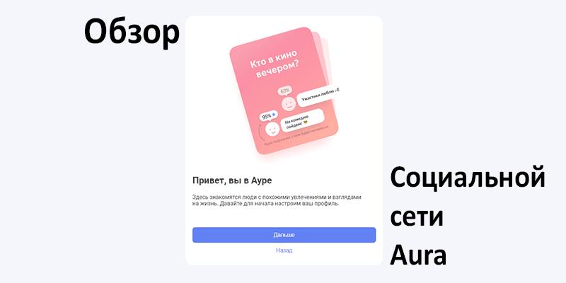 Обзор социальный сети Aura от Яндекс